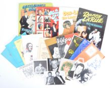 PETER WYNGARDE ESTATE - COLLECTION OF AUTOGRAPHS