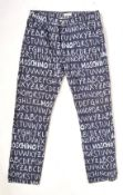 RARE PAIR OF MOSCHINO JEANS ABC ALPHABET TROUSERS