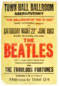 RARE ORIGINAL BEATLES 1963 ABERGAVENNY BALLROOM CO