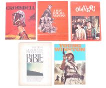 COLLECTION OF FIVE VINTAGE CINEMA PRESS BROCHURES