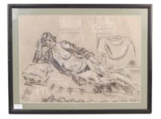C. MINNA - 20TH CENTURY CHARCOAL SKETCH OF A NUDE