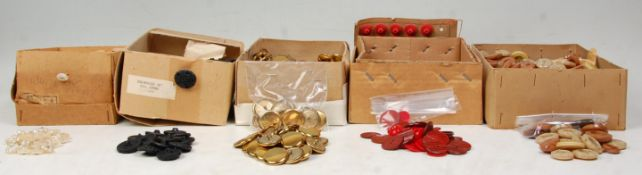 A large collection of vintage mid 20th century circa 1950's plastic buttons to include examples as