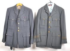 TWO BRITISH RAF ROYAL AIR FORCE DRESS UNIFORMS