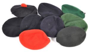 UNIFORM AND FANCY DRESS - A COLLECTION OF ASSORTED MILITARY BERETS.