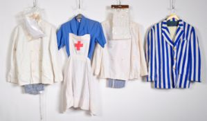 UNIFORM AND FANCY DRESS - A COLLECTION OF FOUR ASSORTED UNIFORM FANCY DRESS COSTUMES.