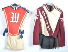 UNIFORMS & FANCY DRESS - A PAIR OF USA HIGH SCHOOL MARCHING BAND UNIFORMS.