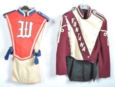 UNIFORMS & FANCY DRESS - A PAIR OF USA HIGH SCHOOL MARCHING BAND UNIFORMS.