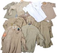 UNIFORMS & FANCY DRESS - A COLLECTION OF TEN GENUINE MILITARY SHIRTS