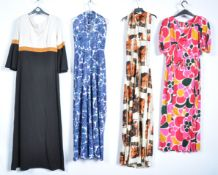 UNIFORMS AND FANCY DRESS - A COLLECTION OF FOUR RETRO VINTAGE 1960S STYLE DRESSES.