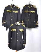 UNIFORMS & FANCY DRESS - A COLLECTION OF THREE ROYAL NAVY BANDSMAN UNIFORM JACKETS.