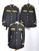 UNIFORMS & FANCY DRESS - A COLLECTION OF THREE ROYAL NAVY BANDSMAN UNIFORM JACKETS.