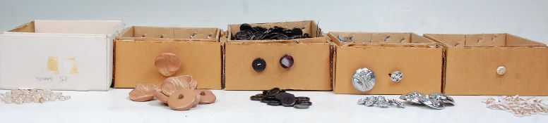 A good collection of mid 20th century circa 1950's plastic buttons to include plastic sank