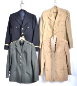 UNIFORMS & FANCY DRESS - A COLLECTION OF FOUR MILITARY AND NAVAL UNIFORM JACKETS.