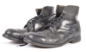UNIFORMS AND FANCY DRESS - A PAIR OF WWII SOLDIERS HOBNAIL BOOTS.