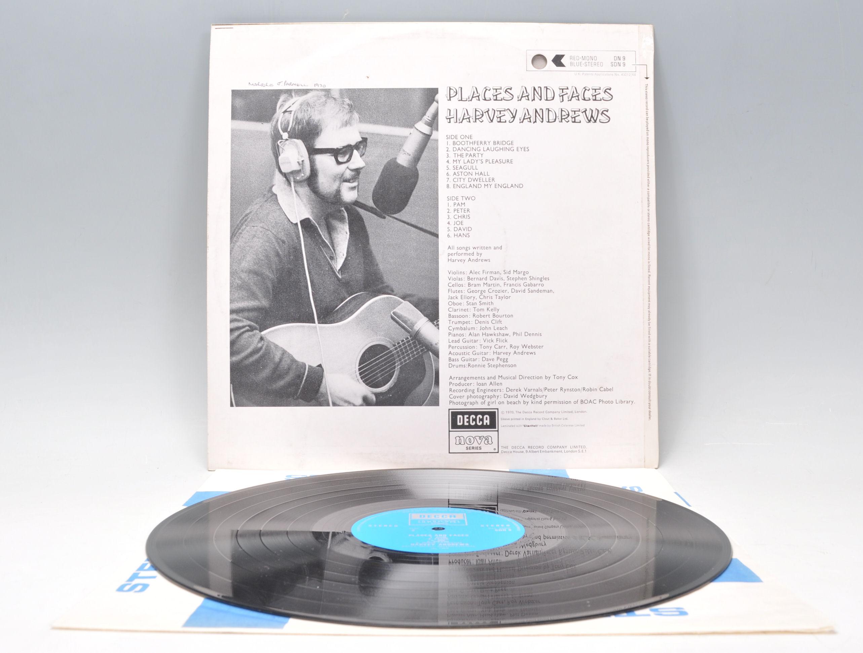 Lot 474 - A vinyl long play LP record album by Harvey Andrews – Places And Faces – Original Decca Nova 1st U.