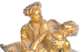 RARE 19TH CENTURY SILVER PLATED AND BRONZE FIGURIN