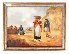 AN EARLY 19TH CENTURY ENGLISH CORNISH OIL PAINTING