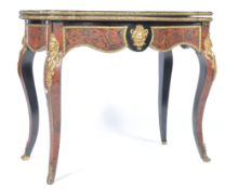 18TH / 19TH CENTURY BRASS AND BOULLE WORK CARD GAM