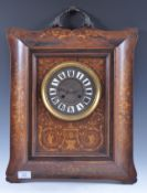 EDWARDIAN ROSEWOOD AND INLAID BRONZED HANDLED WALL