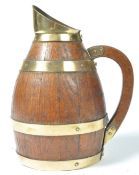 EARLY 19TH CENTURY OAK COOPERED BARREL BRASS BOUND