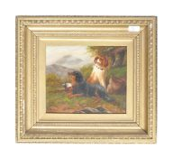 CHARMING 19TH CENTURY PAINTING OF DOGS