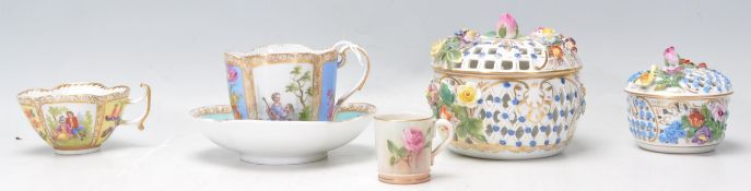 An group of antique 19th Century porcelain to incl