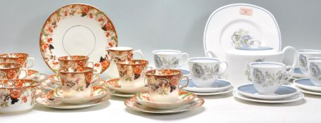 A 19th Century Victorian Imari pattern tea service having transfer printed floral decoration with