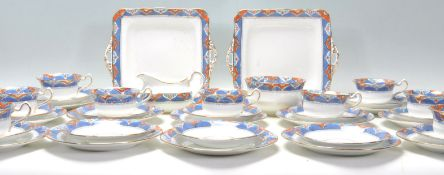 A Fine Bone China English tea service by Kildare F