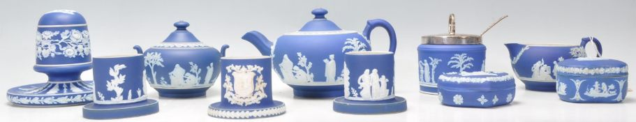Wedgwood Jasperware - A good mixed group of Wedgew
