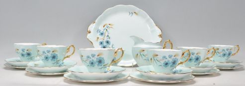 An vintage 20th Century Royal Albert fine bone china tea service all decorated in floral sprays