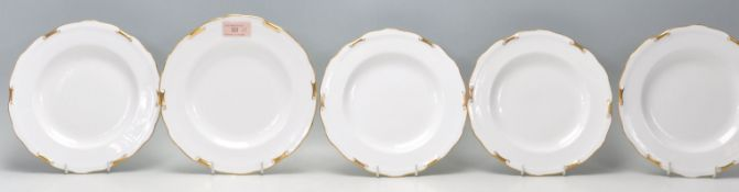 Royal Crown Derby - A group of Fine Bone English China plates by Royal Crown Derby in the Regency