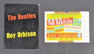 THE BEATLES & ROY ORBISON - RARE 1963 FLYER & PROG