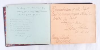RARE EARLY 1900'S EDWARDIAN MUSIC HALL THEATRE AUTOGRAPH BOOK