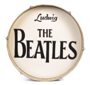 THE BEATLES - VINTAGE HAND PAINTED ' LUDWIG ' BASS