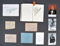 AUTOGRAPH BOOK - CLIFF RICHARD, RIK MAYALL, NORMAN