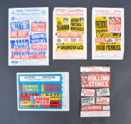 COLLECTION OF EARLY 1960'S ROCK & ROLL FLYERS - ROLLING STONES