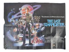 THE LAST STARFIGHTER 1984 - ORIGINAL UK QUAD CINEM