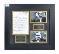 RARE ORIGINAL LETTER FROM RONNIE BARKER TO JOHN CL