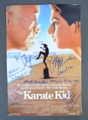 THE KARATE KID - INCREDIBLE MULTI-SIGNED CAST POST