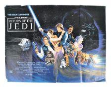 STAR WARS RETURN OF THE JEDI (1983) ORIGINAL BRITISH QUAD FILM POSTER
