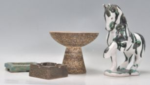 A mixed group of four mid 20th Century studio art