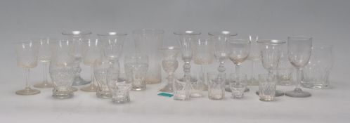 A good group of Antique drinking glasses dating fr