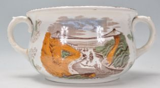 A 19th Century Victorian humorous pottery chamber