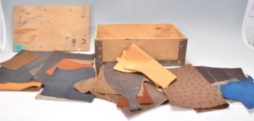 A good collection of various leather skin samplers