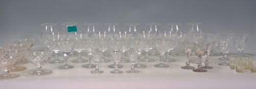 A large collection of vintage 20th Century cut gla