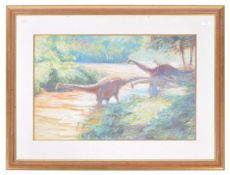 COOTE, MICHAEL ( BORN 1931 ) THE LOST WORLD WATERCOLOUR PAINTING