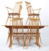 LUCIAN ERCOLANI - ERCOL 20TH CENTURY DINING TABLE AND CHAIRS SUITE