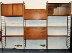 ROBERT HEAL FOR STAPLES MID CENTURY 3 BAY LADDERAX SYSTEM