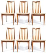 LESLIE DANDY FOR G-PLAN SET OF 6 TEAK WOOD DINING CHAIRS