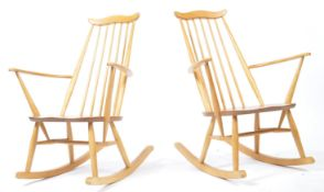 LUCIAN ERCOLANI - ERCOL - PAIR OF GOLDSMITH 369 ROCKING CHAIRS